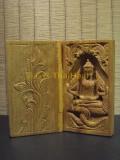 #30403-001 佛祖 - 緬甸檀香木製作的Myanmar Mahamuni 佛