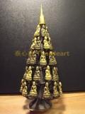 #30195-001 藥師佛樹 - 罕有44個藥師佛的佛樹, 樹底部有符